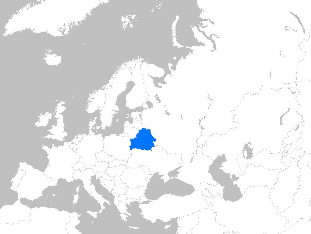 Belarus Kort Europa Kort I Belarus Europa Ost Europa